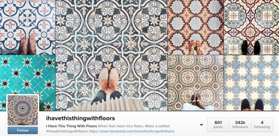 ihavethisthingwithfloorsis an amazing Instagrammer who posts the most incredible tile floor pics you've ever seen.