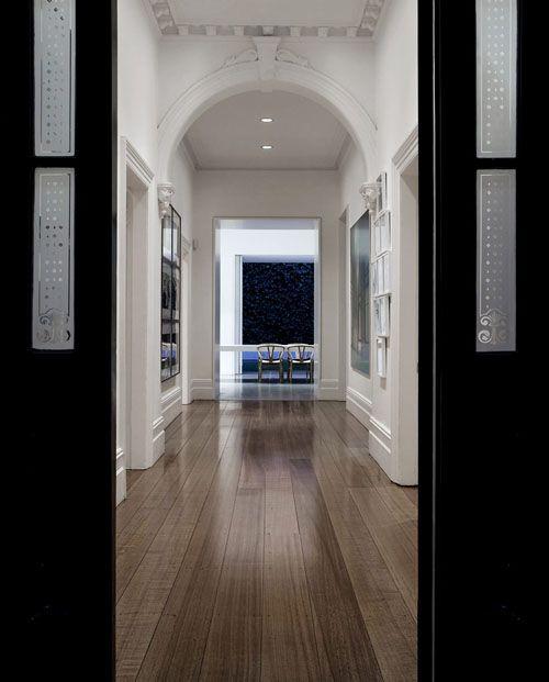 Wood floor / flooring; vista; hallway; entryway | Interior designer: Katon Redgen Mathieson / Image source: The Daily Icon