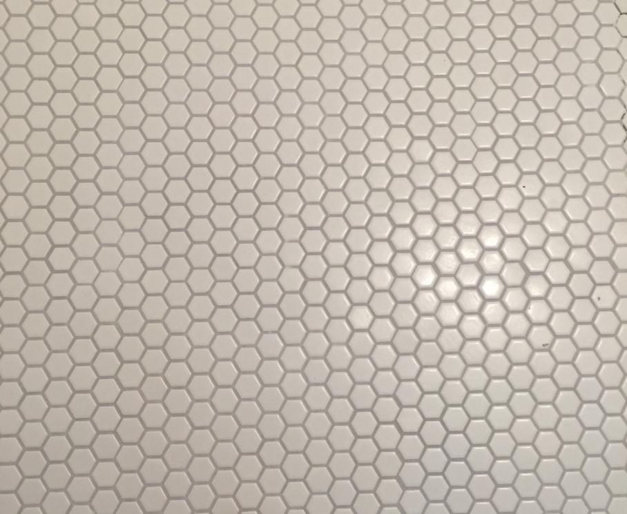 Porcelain mosaic tile; nursery