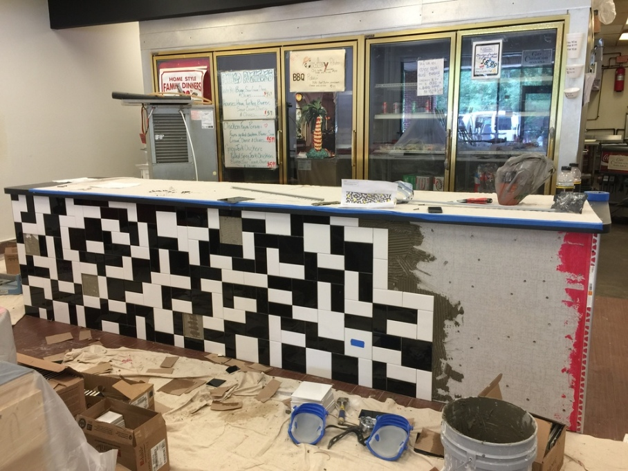 Tile counter in progress