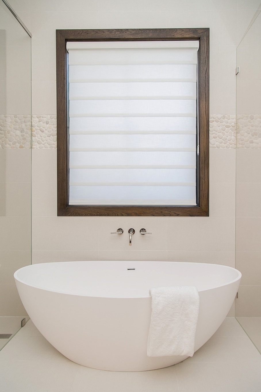 Master bathroom remodel; bathtub | Interior Designer: Carla Aston / Photographer: Tori Aston