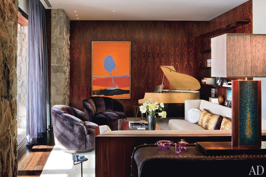 Jennifer Aniston; house; home; living room; seasonal coloring; color | Image source: Architectural Digest