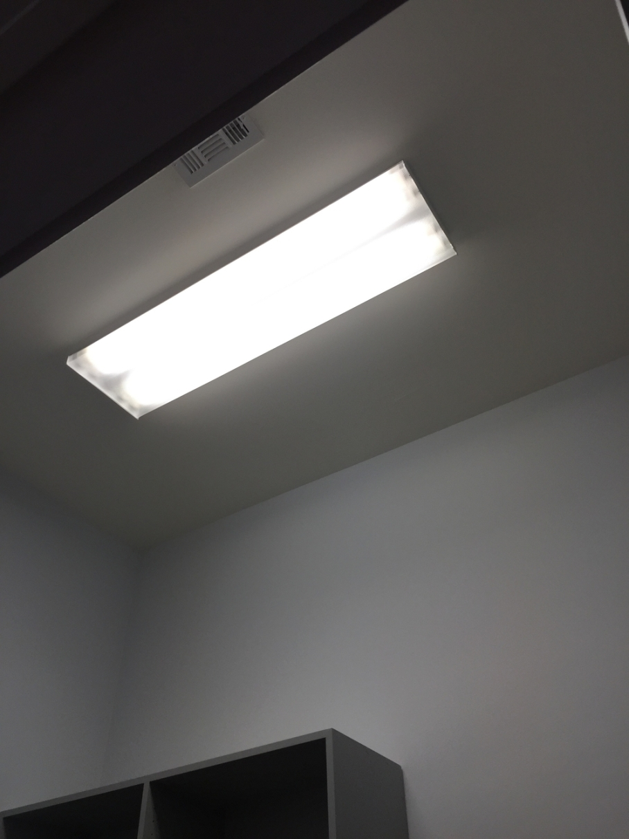 Closet light fixture to be changed out.
