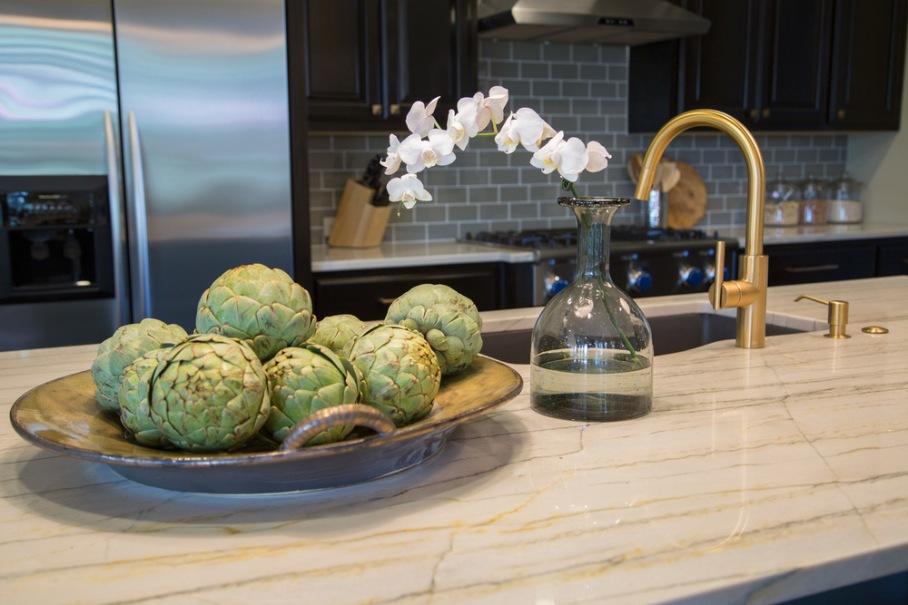 Kitchen remodel; stove; cabinetry; countertop; refrigerator; decor | Interior Designer: Carla Aston / Photography by Tori Aston