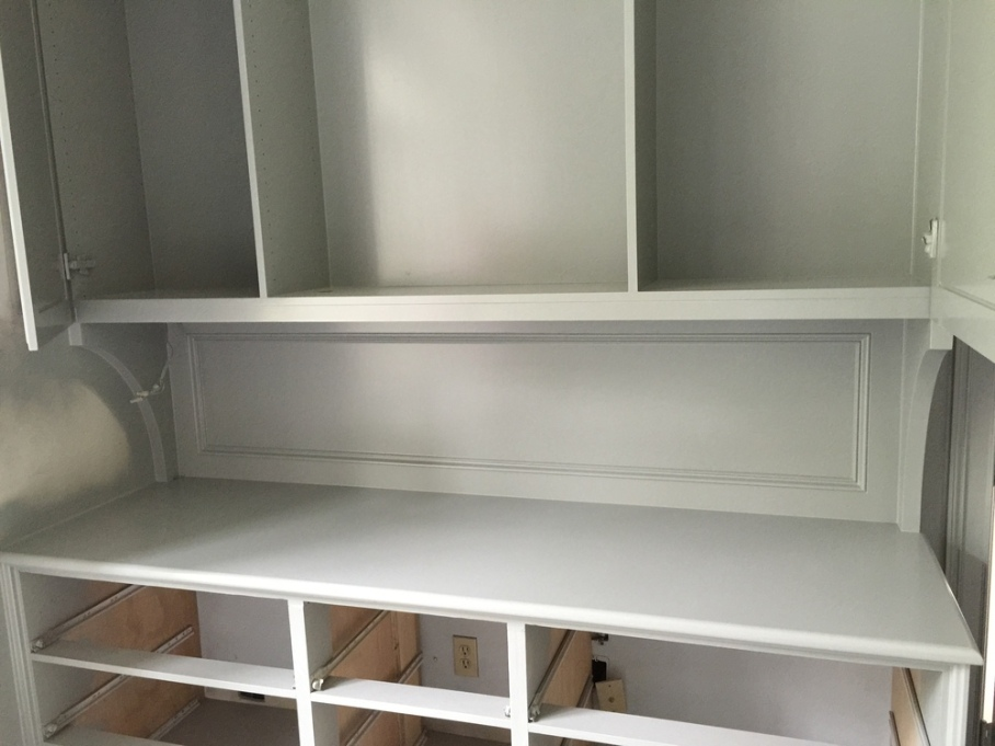Cabinet with brackets