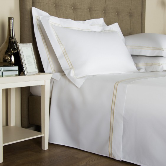 Available @ Frette.com: Triplo Bourdon Sheet Set | Click here to purchase!